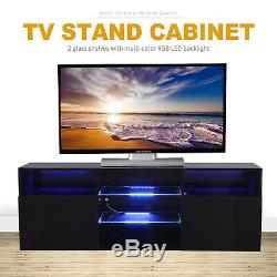 10 Types TV Stand Cabinet Console High Gloss+Tempered Glass withDrawers & Shelves