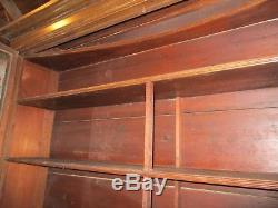 1886 Apothecary Medicine Cabinet, Town Doctor MA, Teardrop Pulls, Glass Doors