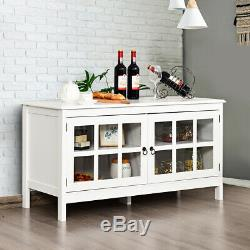 50 Modern TV Stand Console Entertainment Center Storage Cabinet withDouble Doors
