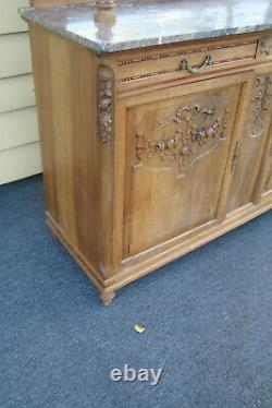 61364 Quality French Sideboard Server Cabinet with Leaded glass doors