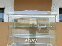 70's Exceptional Huge MCM Lucite Dry Bar Display Cabinet Etagere w Glass Doors