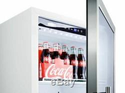 9 cu. Ft. Commercial Glass Door Beverage Center with white cabinet