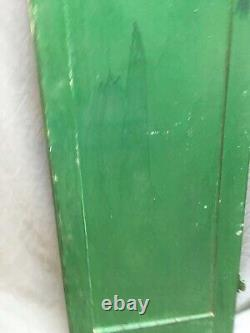 Antique 17x54 Raised Panel Shutter Floral Cut Out Old Vtg Cabinet Door 193-20E