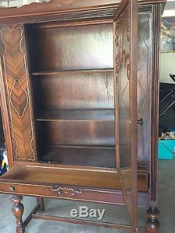 Antique China Cabinet/Hutch with Glass Door and Drawer