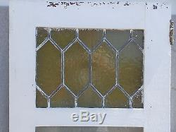 Antique Leaded Stained Glass Beveled Cabinet Cupboard Door Window 54x18 576-17R