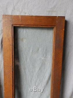 Antique Pair Casement Oak Cabinet Cupboard Pantry Door Window 44x14 386-17P