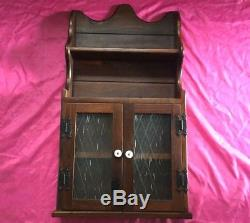 Antique Solid Wood Medicine Bathroom Wall Cabinet withGlass Door, Shelves Nice