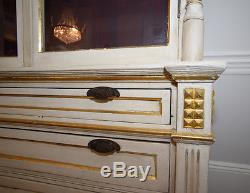 Antique Swedish Cabinet with Glass Doors