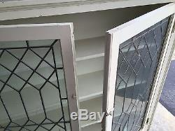 Antique hutches with leaded glass doors (two of them)