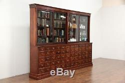 Apothecary Or Drug Store Antique Cabinet 60 Drawers Sliding Glass