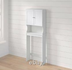 BATHROOM STORAGE CABINET Over The Toilet Space Saver Shelf Organizer White