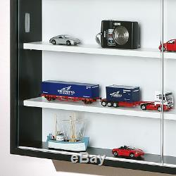 BEST Display Cabinet Wall Cupboard Glass Doors For Displaying Collections NEW