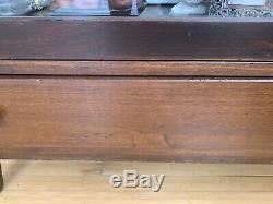 Barrister Bookcase. Display Case. Book Shelf. 3 Glass Door Cabinet with Drawer