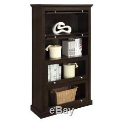 Barrister Bookcase Lawyers With Glass Doors Library Display Cabinet Shelves Book