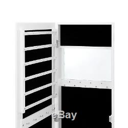 Beautify White Jewelry Makeup Armoire Wall/Door Mounted Organizer Cabinet Mirror