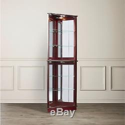 Curio cabinet display case china glass doors sports memorabilia corner curio cabinet display case china glass doors sports memorabilia lighted planetlyrics Gallery