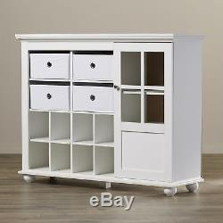 Cubby Storage Organizer Bins Glass Door Curio Display Cabinet Shoes Shelves