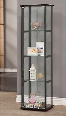 Curio Cabinets With Glass Doors Display Case Shelves Modern Contemporary