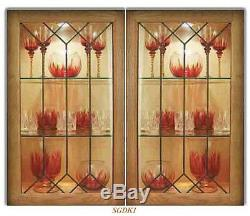 Custom Leaded Glass kitchen door inserts for New & existing cabinets