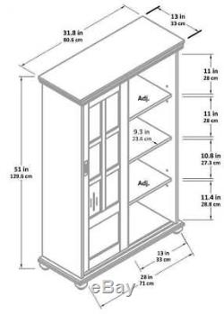 Doored Bookcase Wide Office Cabinets Bookshelfs with Glass Doors and Shelves