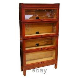 Early 20th C. Sectional Bookcase with Glass Doors #3001