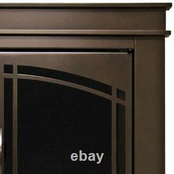 Fireplace Doors 3/16 in. Tempered Glass Cabinet-Style Oil Rubbed Bronze Small
