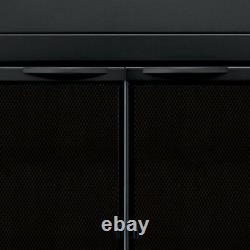 Fireplace Doors Medium Tempered Clear Glass Cabinet-Style Classic Black Finish