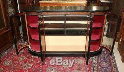 French Louis XVI Sideboard Two Glass Door Display Cabinet Dining Room Furniture