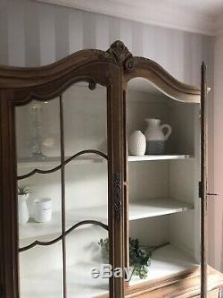 French Louis Xv Display Cabinet In Wood Glass Doors