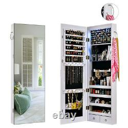 Full Length Mirror Wall Door Mounted Jewelry Cabinet ...