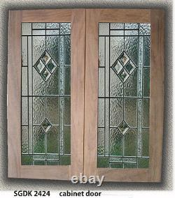 Genuine Leaded glass inserts for Kitchen cabinet Doors We make all sizes