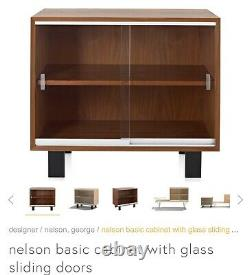 George Nelson Herman Miller BCS Cabinet With Sliding Glass Doors And Legs