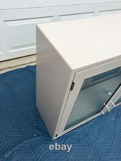 Glass Door, Pass Through, Two Sided Lab cabinet