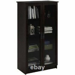 Glass Doors Showcase Bookcase Storage China Display Cabinet Library Office Shelf