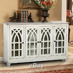 Glenwillow Home 56 Wide TV Stand/Accent Cabinet with Glass Doors