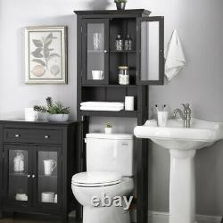 Glitzhome 68'' Wooden Over The Toilet Bathroom Cabinet Space Saver Towel Storage