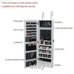 High Quality Jewelry Organizer Armoire Cabinet Wall Door Mounted Mirror Lockable