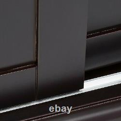 Kings Brand Furniture Holmes Espresso Wood Curio Cabinet with Glass Doors