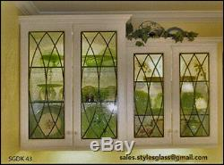 Kitchen Cabinet Glass Door Inserts For Existing or new Cabinets SGDK 43