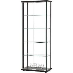 Large Curio Cabinet Furniture Glass Storage Shelves Display Case Glass Doors