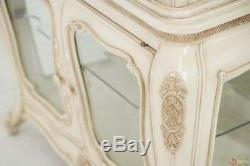 Lavelle French Chic 3-Door Curio Cabinet withSwarovski Crystal Accents in Blanc