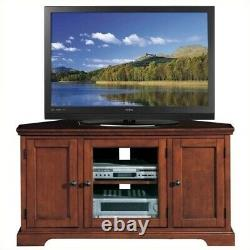Leick Furniture Westwood 46 Corner TV Stand with Storage in Cherry