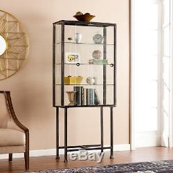 Mct46088 Metal / Glass 2 Sliding Glass Doors Display / Curio Cabinet