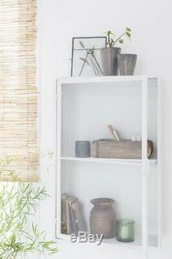 Metal Wall Cabinet 1 Shelf Brooklyn White With Glass Door by Ib Laursen