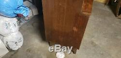 Mid Century Stanley China Cabinet/ Hutch with Glass Doors