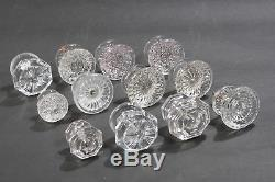 Mixed Lot Of 12 Antique Vintage Glass Drawer Door Cabinet Pulls Handles