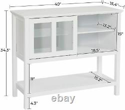 NEW Kitchen Sideboard Dining Buffet Server Table Storage Cabinet with Shelf, US