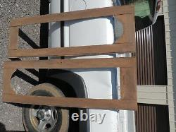 Pair Of Antique Vintage Old Wood Cabinet Doors, missing glass, 18 1/2 57 1/2