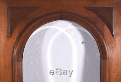 Pair of French Antique Walnut Wood & Beveled Glass Panels/Cabinet Doors