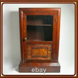 Pre-1950s VTG Wood with Glass Door Shelf/Wall Cabinet from Doc's Office Vienna